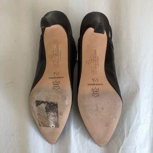 """Brooks Brothers Shoes - EUC Brooks Brothers 6 1/2 leather slingback 3""""heel"""